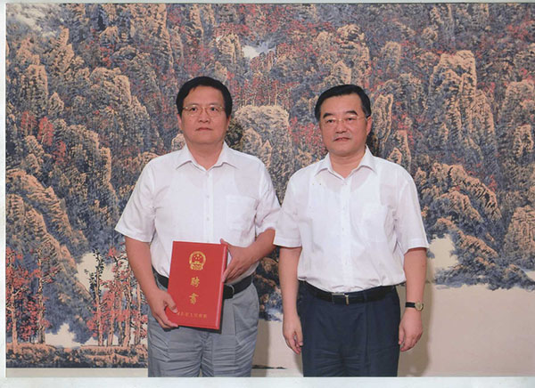 民盟石家庄市委郭斌主委、吴国英常委 被河北省人民政府受聘为参事